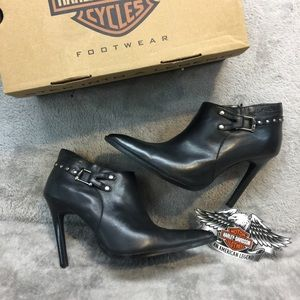 NWB Leather Harley Ankle Boots